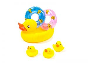 Набор резиновых игрушек с пищалкой для купания Утенок