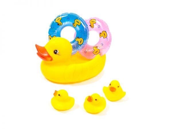 Набор резиновых игрушек с пищалкой для купания Утенок 1
