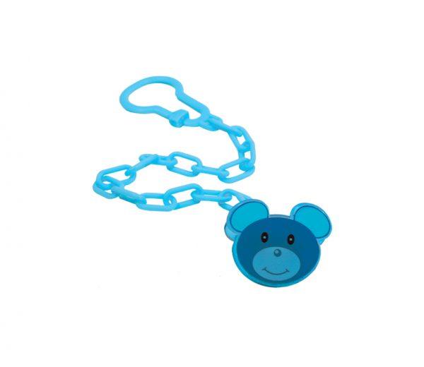 Цепочка для пустышки с клипсой Мишка 3