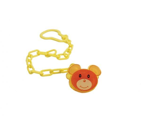 Цепочка для пустышки с клипсой Мишка 1