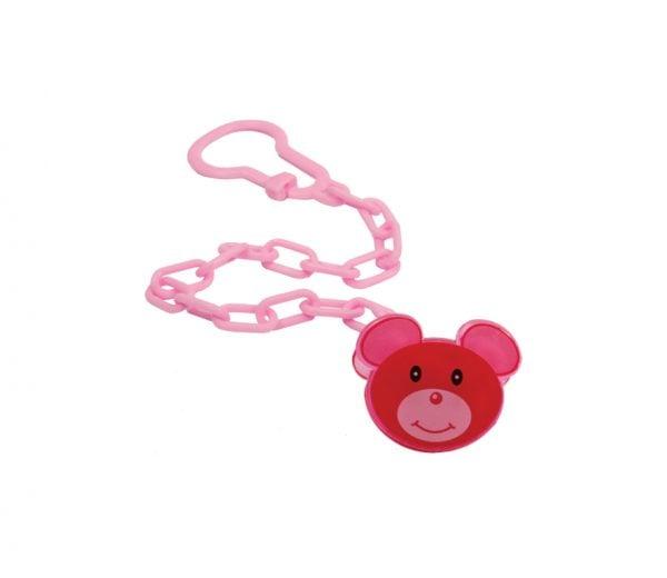 Цепочка для пустышки с клипсой Мишка 2